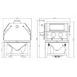 Smėliavimo kamera 1200L su filtru - BASS Polska | AUTOPP