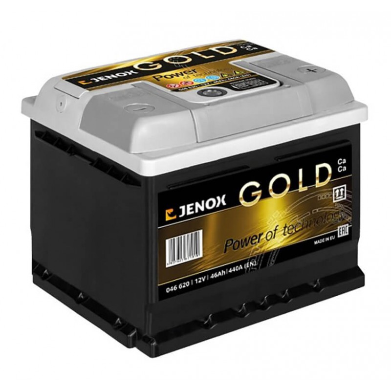Akumuliatorius 12V/46Ah 440A Jenox GOLD
