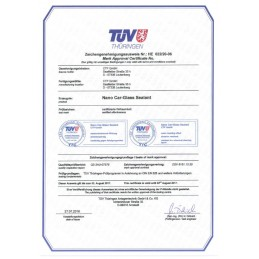 Nano žibintų restauravimo rinkinio sertifikatas Bluechem Gruop