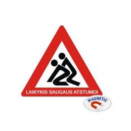 Magnetinis lipdukas - Laikykis saugaus atstumo!