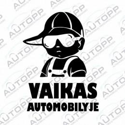 Lipdukas - Vaikas automobilyje (Berniukas)