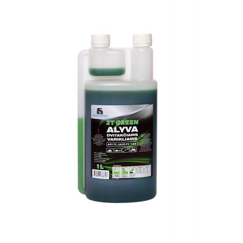 Alyva 2T varikliams Autochemija 1L žalios spalvos