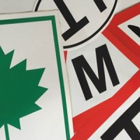 Stickers and magnetic signs
